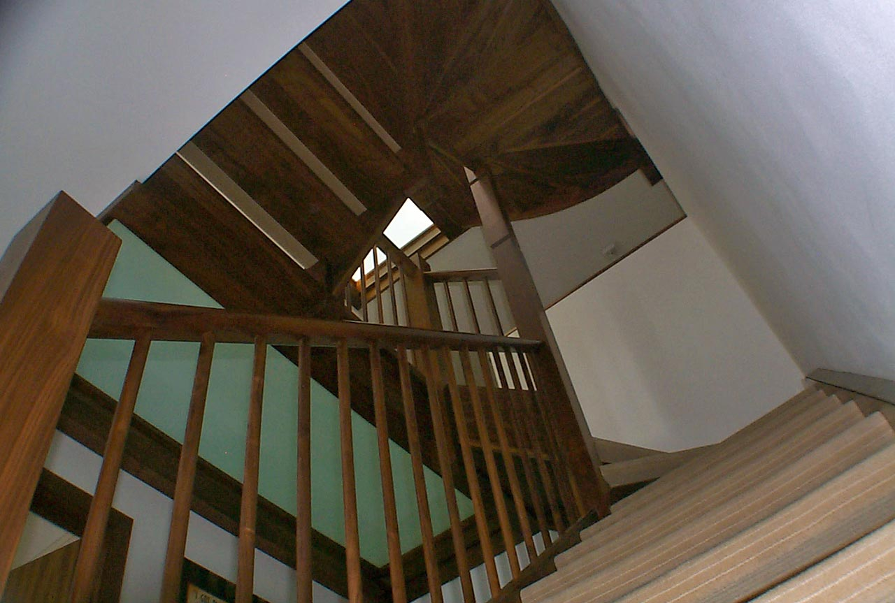 stairwell glass landings